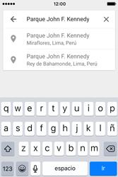Uso de la navegación GPS - Apple iPhone 4s - Passo 17
