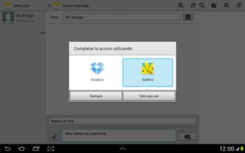 Envía fotos, videos y audio por mensaje de texto - Samsung Galaxy Note 10-1 - N8000 - Passo 14