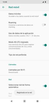 Cómo seleccionar una red en su teléfono manualmente - Motorola Moto G8 Play (Single SIM) - Passo 11