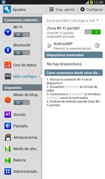 Configura el hotspot móvil - Samsung Galaxy Tab 3 7.0 - Passo 11
