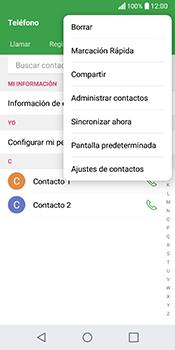 ¿Tu equipo puede copiar contactos a la SIM card? - LG Q6 - Passo 4