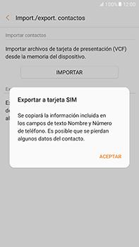 ¿Tu equipo puede copiar contactos a la SIM card? - Samsung Galaxy A7 2017 - A720 - Passo 9