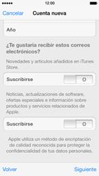 Crea una cuenta - Apple iPhone 5s - Passo 16