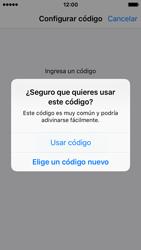Activa o desactiva el uso del código de seguridad - Apple iPhone SE - Passo 5