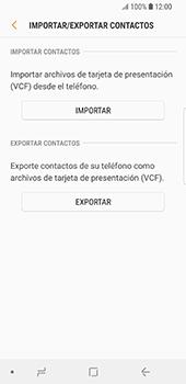 ¿Tu equipo puede copiar contactos a la SIM card? - Samsung Galaxy S9 - Passo 8