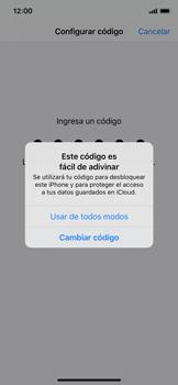 Activa o desactiva el uso del código de seguridad - Apple iPhone 11 Pro - Passo 5