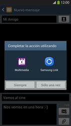 Envía fotos, videos y audio por mensaje de texto - Samsung Galaxy S4  GT - I9500 - Passo 14