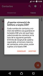 ¿Tu equipo puede copiar contactos a la SIM card? - Sony Xperia XZ Premium - Passo 7