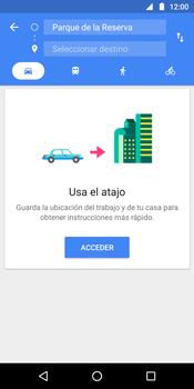 Uso de la navegación GPS - Motorola Moto G6 Plus - Passo 11