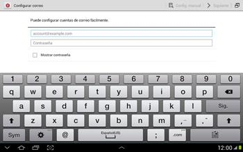 Configura tu correo electrónico - Samsung Galaxy Note 10-1 - N8000 - Passo 6
