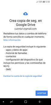 Realiza una copia de seguridad con tu cuenta - Samsung J6 - Passo 10