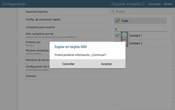 ¿Tu equipo puede copiar contactos a la SIM card? - Samsung Galaxy Note Pro - Passo 10