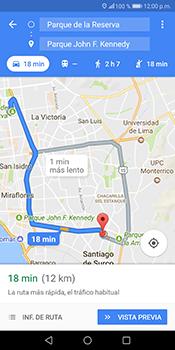 Uso de la navegación GPS - Huawei Mate 10 Lite - Passo 15