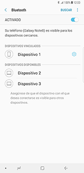Conecta con otro dispositivo Bluetooth - Samsung Galaxy Note 8 - Passo 9