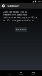 Restaura la configuración de fábrica - Motorola Moto X (2a Gen) - Passo 7