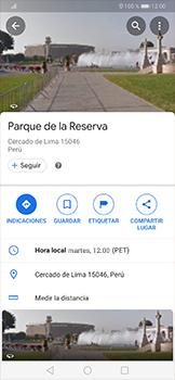 Uso de la navegación GPS - Huawei P30 Pro - Passo 10