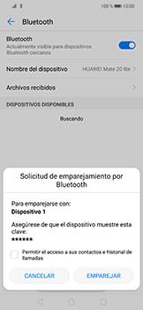 Conecta con otro dispositivo Bluetooth - Huawei Mate 20 Lite - Passo 7