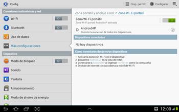 Configura el hotspot móvil - Samsung Galaxy Note 10-1 - N8000 - Passo 11