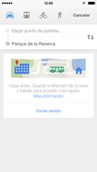 Uso de la navegación GPS - Apple iPhone 5c - Passo 16