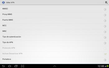 Configura el Internet - Samsung Galaxy Note 10-1 - N8000 - Passo 13