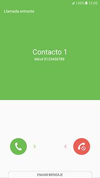 Contesta, rechaza o silencia una llamada - Samsung Galaxy A7 2017 - A720 - Passo 3