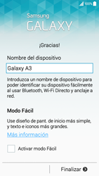 Activa el equipo - Samsung Galaxy A3 - A300M - Passo 15