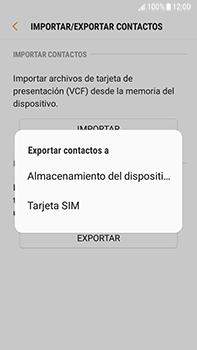 ¿Tu equipo puede copiar contactos a la SIM card? - Samsung Galaxy J7 Prime - Passo 8