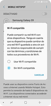 Configura el hotspot móvil - Samsung Galaxy S9 - Passo 7