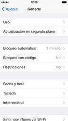 Activa o desactiva el uso del código de seguridad - Apple iPhone 5s - Passo 3