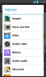 Envía fotos, videos y audio por mensaje de texto - LG Optimus L 7 II - Passo 12