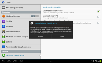 Uso de la navegación GPS - Samsung Galaxy Note 10-1 - N8000 - Passo 7