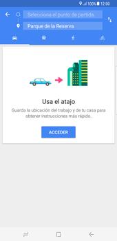 Uso de la navegación GPS - Samsung Galaxy S8+ - Passo 13