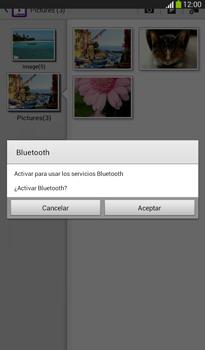 Transferir fotos vía Bluetooth - Samsung Galaxy Tab 3 7.0 - Passo 11