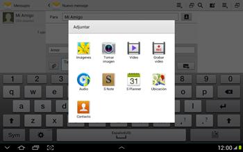 Envía fotos, videos y audio por mensaje de texto - Samsung Galaxy Note 10-1 - N8000 - Passo 12