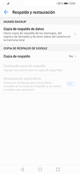 Realiza una copia de seguridad con tu cuenta - Huawei Mate 20 Lite - Passo 5