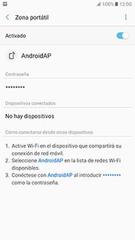 Configura el hotspot móvil - Samsung Galaxy A7 2017 - A720 - Passo 12