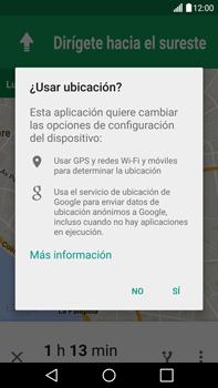 Uso de la navegación GPS - LG V10 - Passo 22