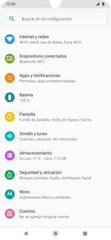 Activa o desactiva el roaming de datos - Motorola One Zoom - Passo 4