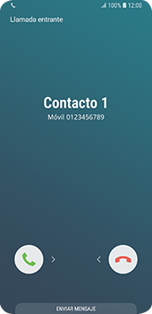 Contesta, rechaza o silencia una llamada - Samsung Galaxy S9 - Passo 2
