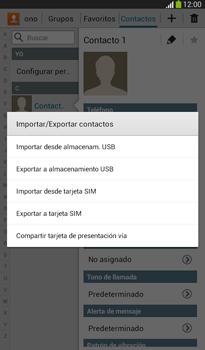 ¿Tu equipo puede copiar contactos a la SIM card? - Samsung Galaxy Tab 3 7.0 - Passo 6