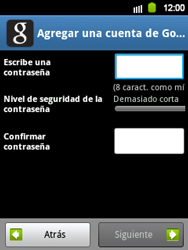 Crea una cuenta - Samsung Galaxy Y  GT - S5360 - Passo 8