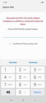 Habilitar seguridad de huella digital - Samsung Galaxy S10 Lite - Passo 8