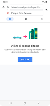Uso de la navegación GPS - Samsung Galaxy A10 - Passo 11