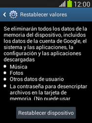 Restaura la configuración de fábrica - Samsung Galaxy Pocket Neo - S5310L - Passo 7