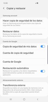 Realiza una copia de seguridad con tu cuenta - Samsung S10+ - Passo 7