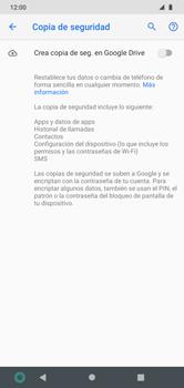 Realiza una copia de seguridad con tu cuenta - Motorola Moto G8 Play (Single SIM) - Passo 6