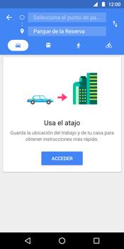 Uso de la navegación GPS - Motorola Moto G6 Plus - Passo 10