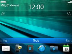Configura el hotspot móvil - BlackBerry Bold 9720 - Passo 1