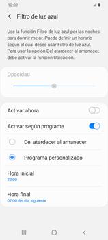 Cómo activar el modo Descanso visual para evitar la fatiga visual - Samsung Galaxy S20 - Passo 9
