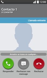 Contesta, rechaza o silencia una llamada - LG L70 - Passo 3
